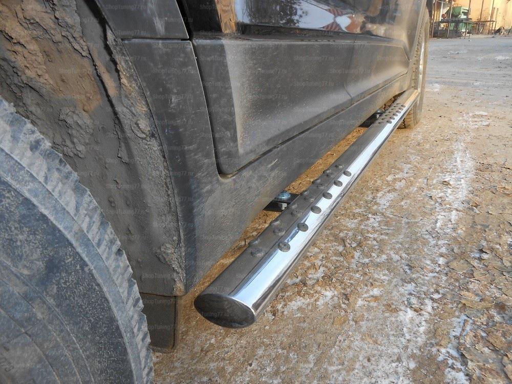 Пороги овальные с проступью 75-42 мм Hyundai Creta (2016-)