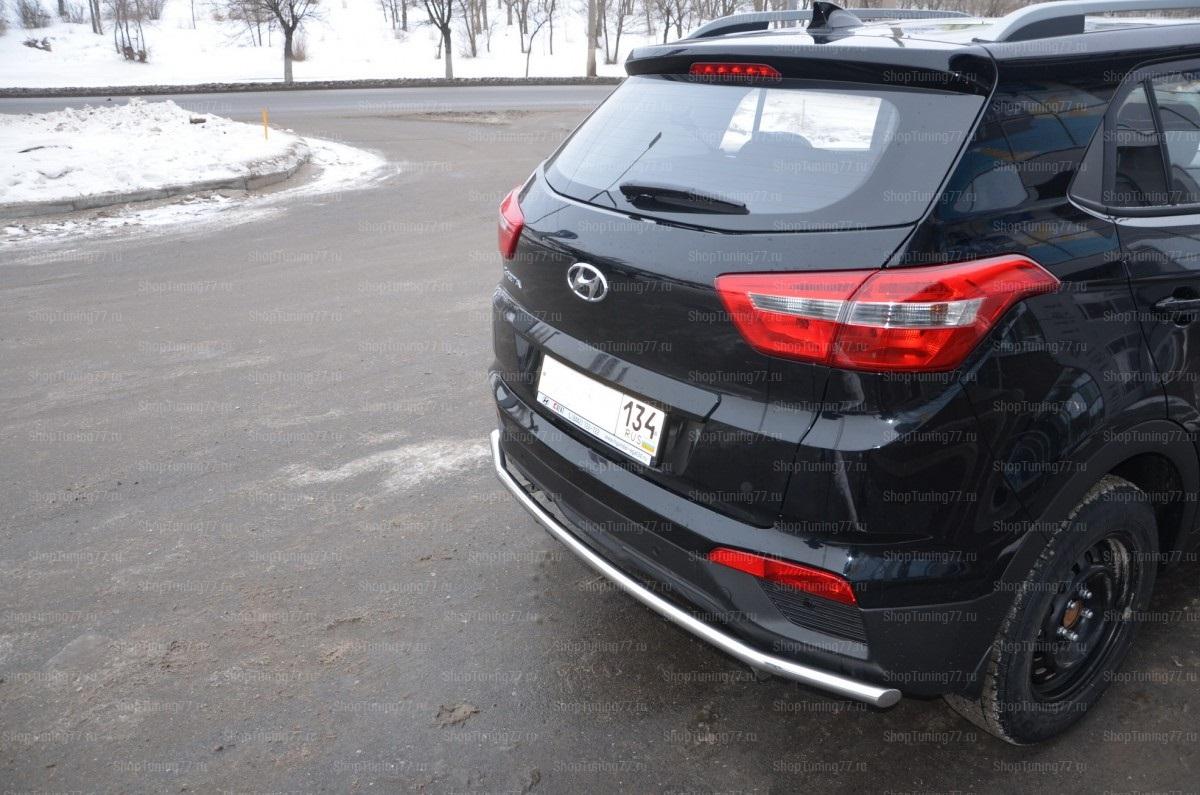 Защита заднего бампера Hyundai Creta 42 мм Hyundai Creta (2016-)