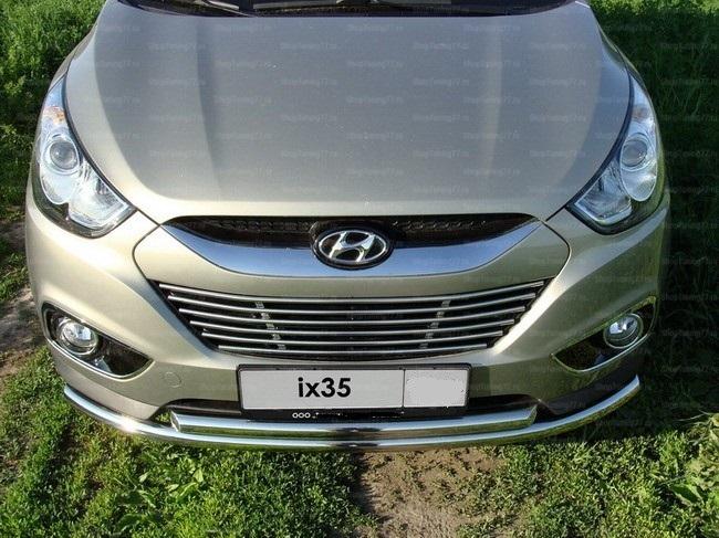 Защита передняя нижняя 60/42 мм Hyundai IX35