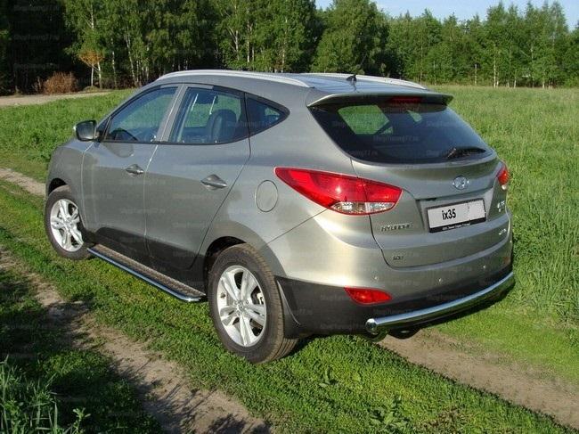 Пороги с площадкой 42,4 мм Hyundai IX35