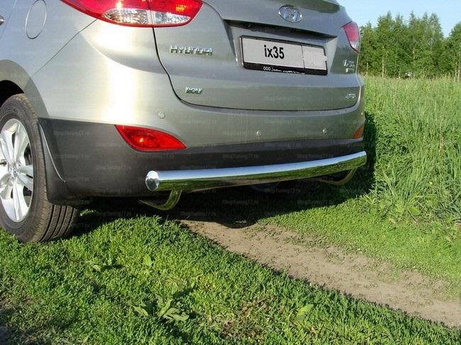 Защита задняя (центральная) 75х42 мм Hyundai IX35