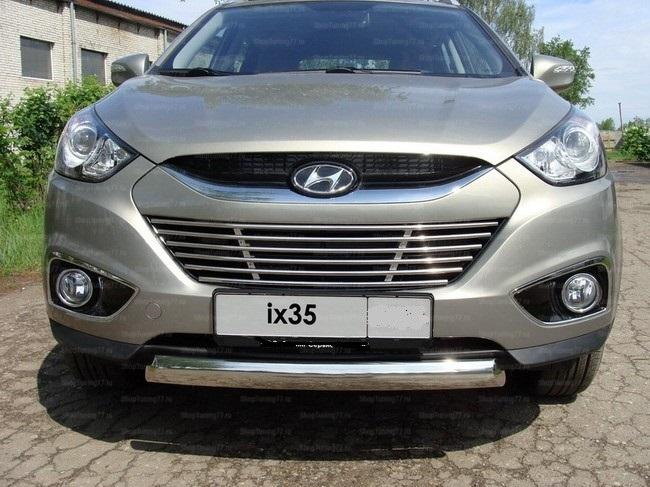 Защита передняя нижняя (овальная) 75х42 мм Hyundai IX35