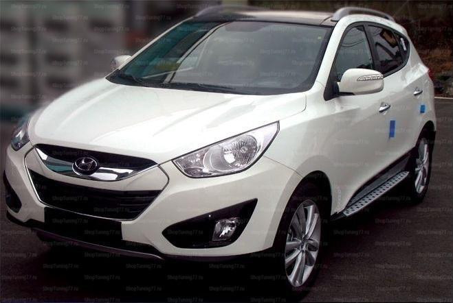 Пороги БМВ стиль Hyundai IX35