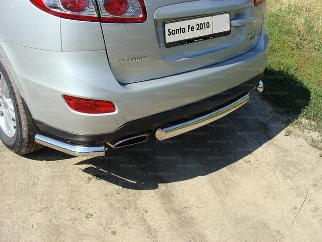 Защита задняя (центральная) 60,3 мм Hyundai Santa Fe (2010-)