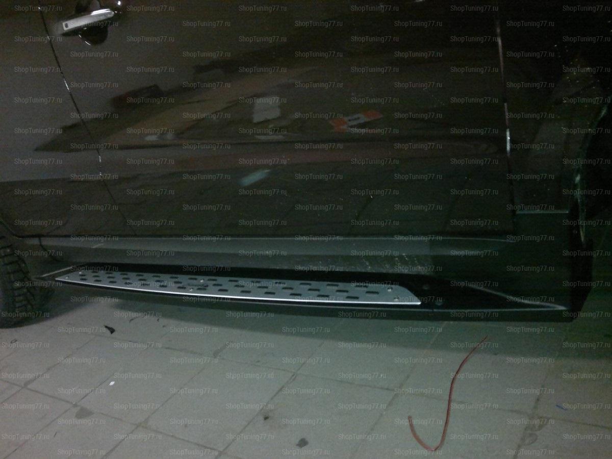 Пороги оригинальные (Стиль порше) Hyundai Santa Fe (2010-)