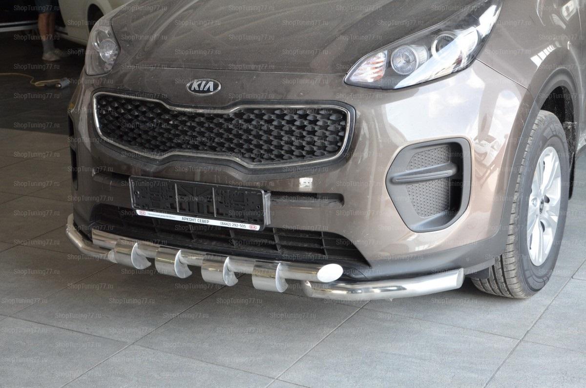 Защита переднего бампера Kia Sportage (G) Грюндик