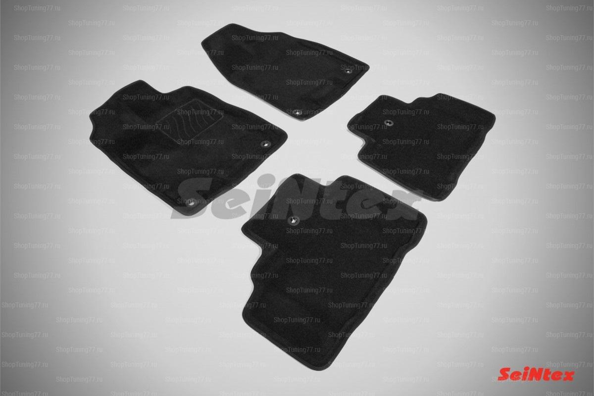 Ворсовые 3D коврики Acura MDX (2013-) цвет Черный