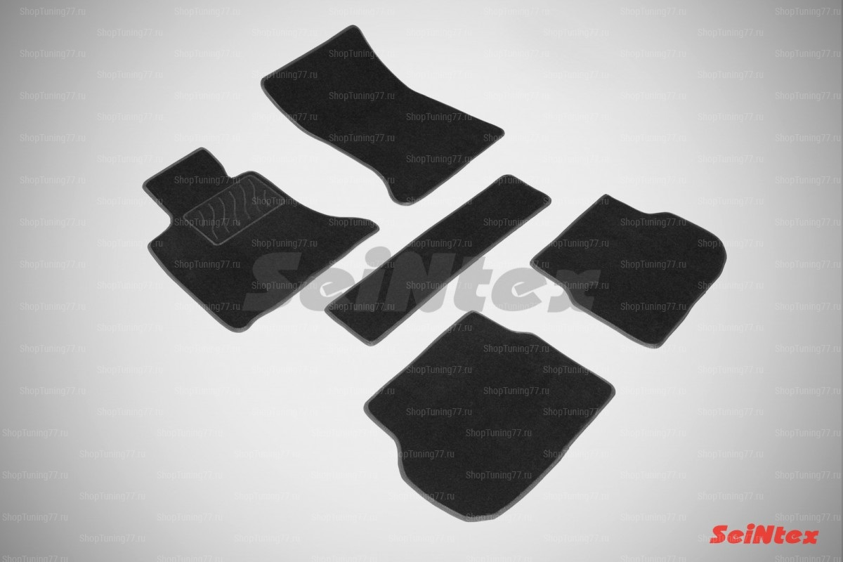 Ворсовые коврики LUX для Bmw 5 Series F10 (рест) 2WD (2010-2013)