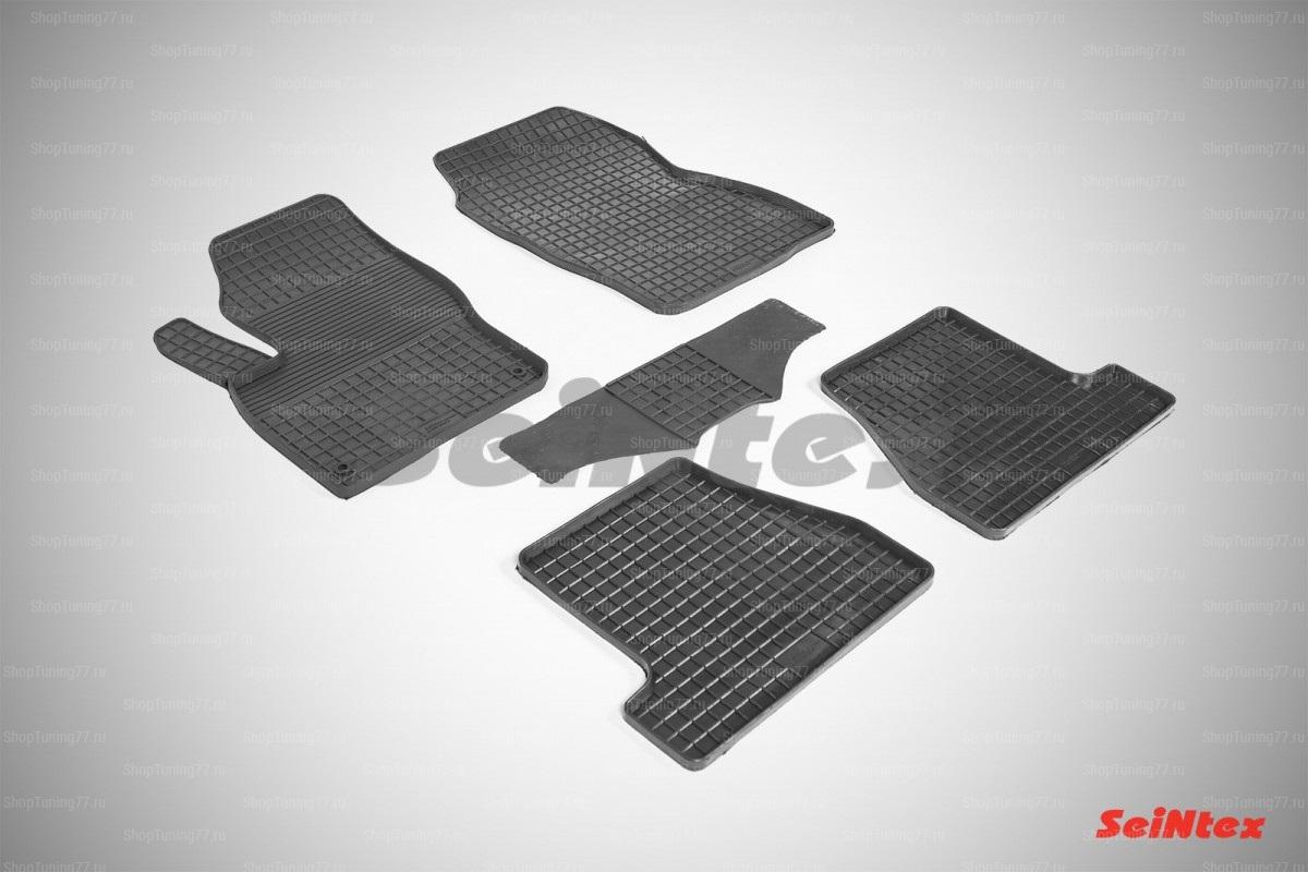 Резиновые коврики сетка для Ford Focus III (2011-2015)