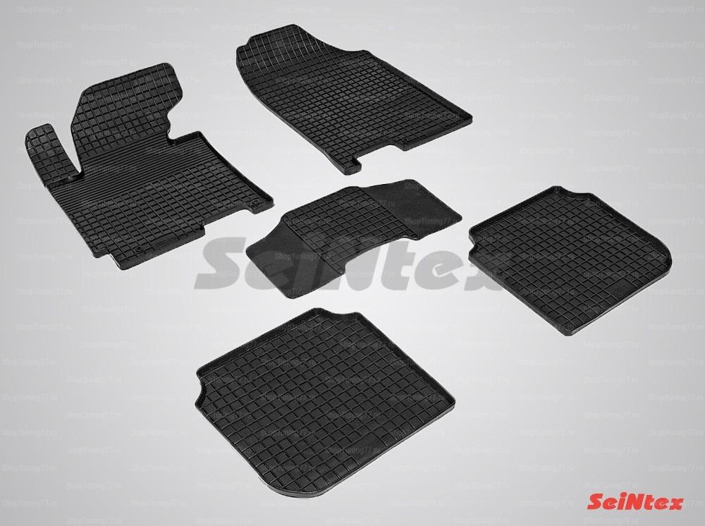 Резиновые коврики сетка для Hyundai Elantra V (2013-2016)
