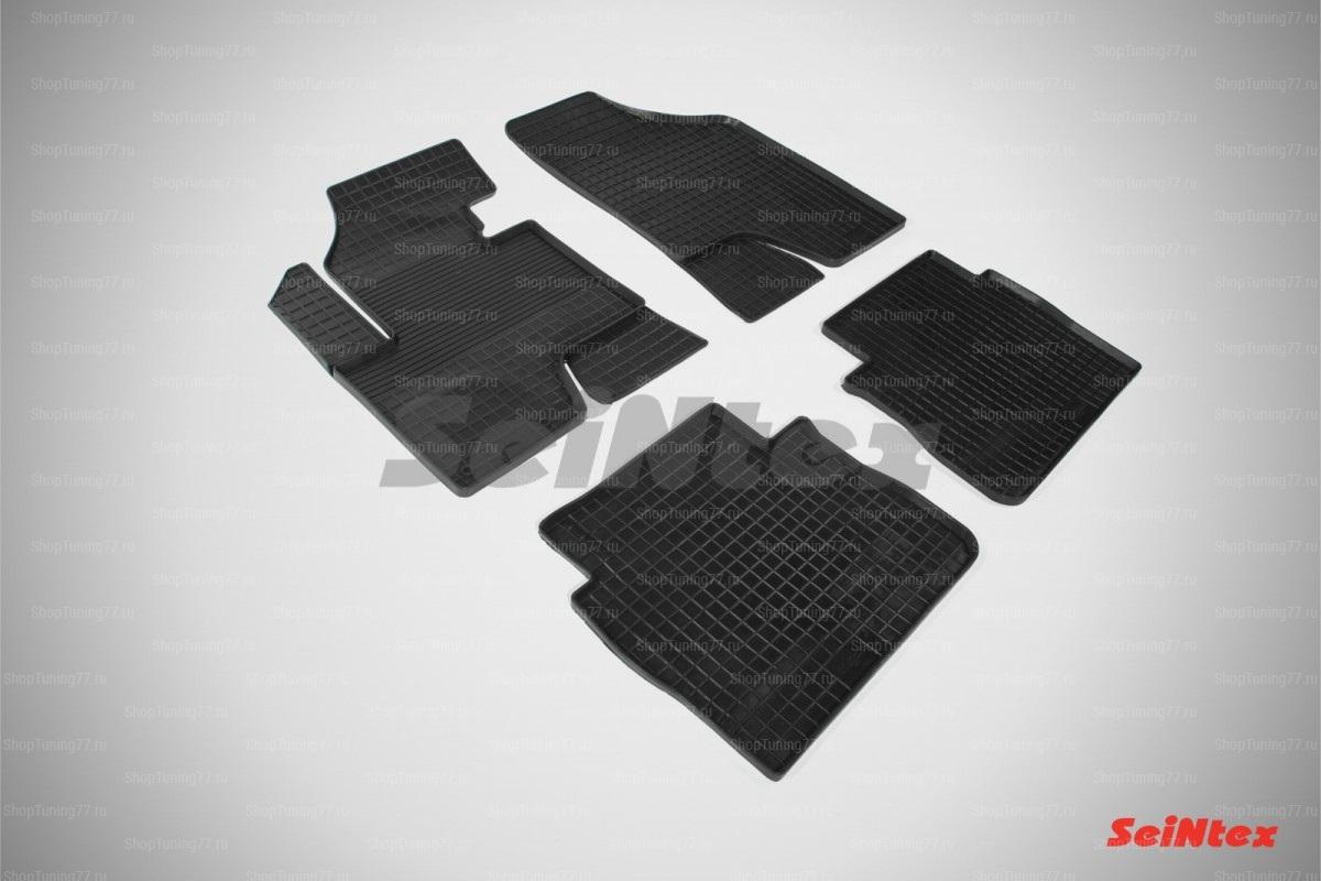Резиновые коврики сетка для Hyundai Santa Fe II New (2010-2012)
