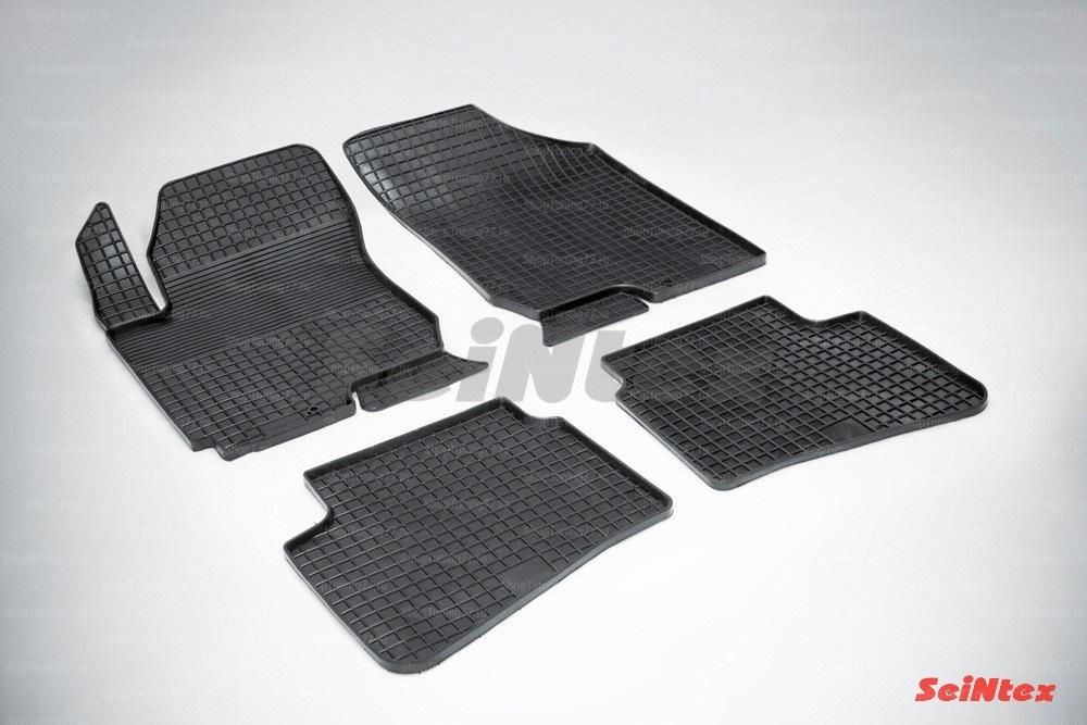 Резиновые коврики сетка для Kia Ceed (2007-2012)