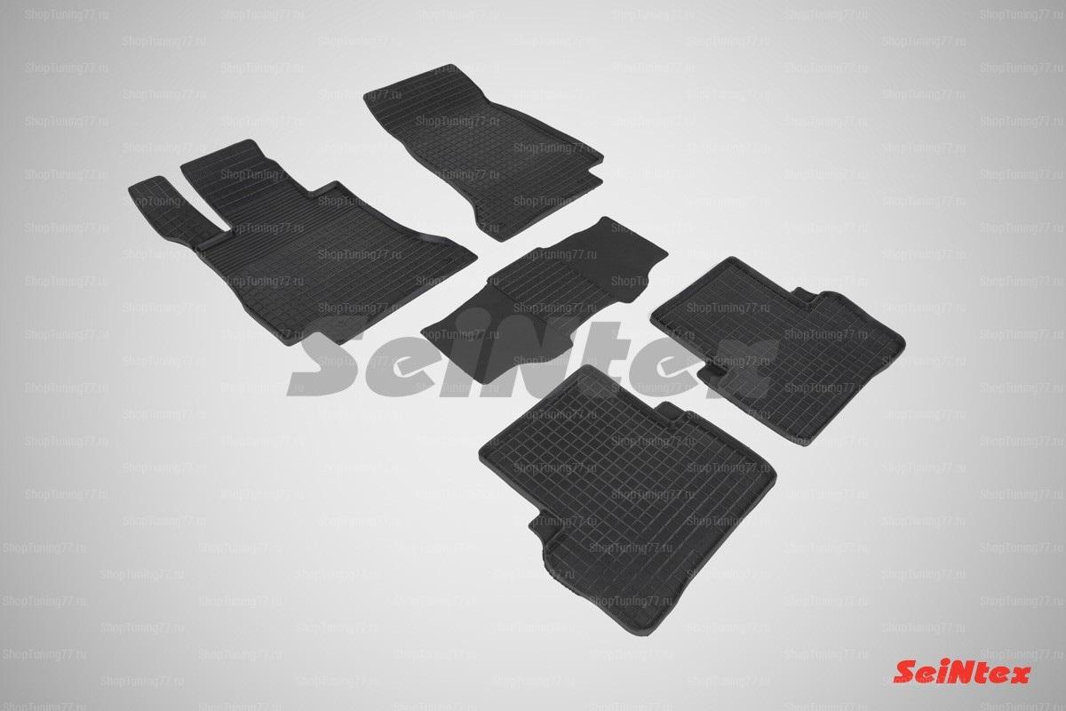 Резиновые коврики сетка для Mercedes Benz E-Class w213 (2016-)