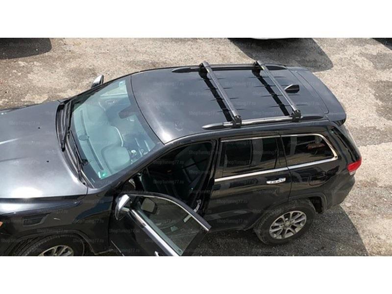 Рейлинги на крышу поперечные  Turtle Air 3 Jeep Grand Cherokee (чёрные)