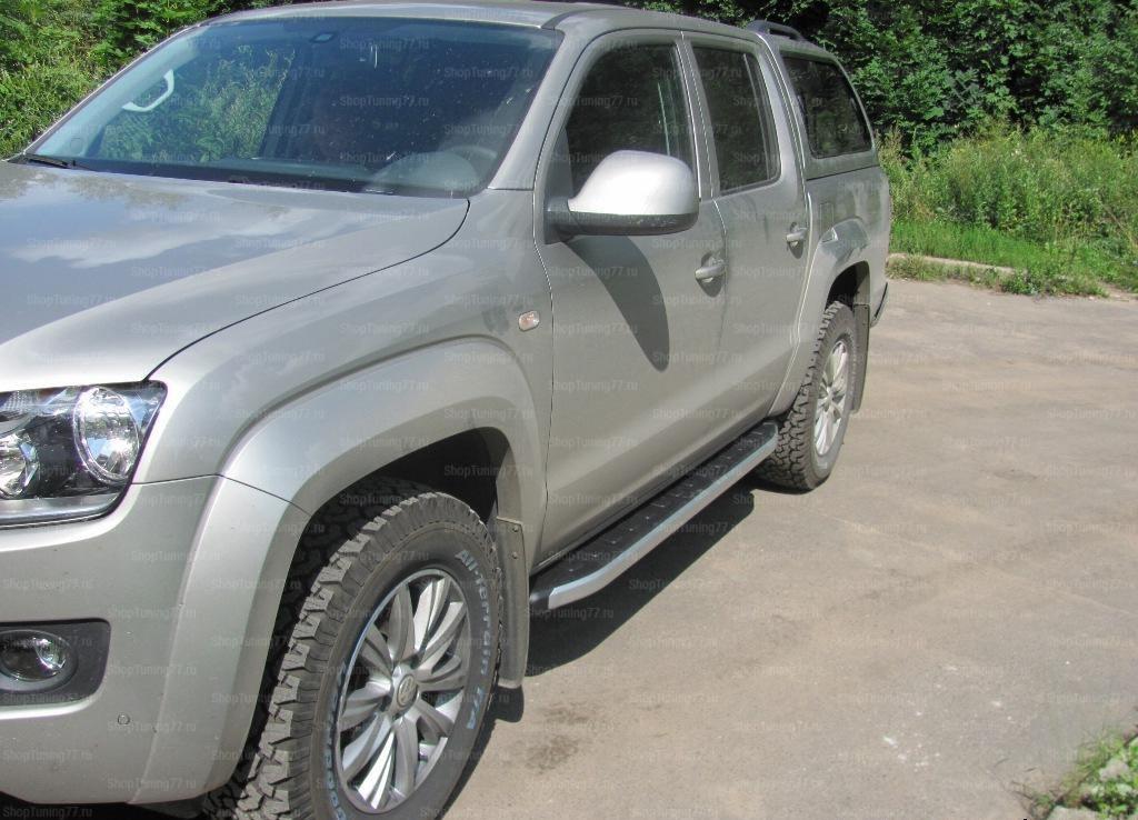 Пороги алюминиевые (Alyans) Volkswagen Amarok