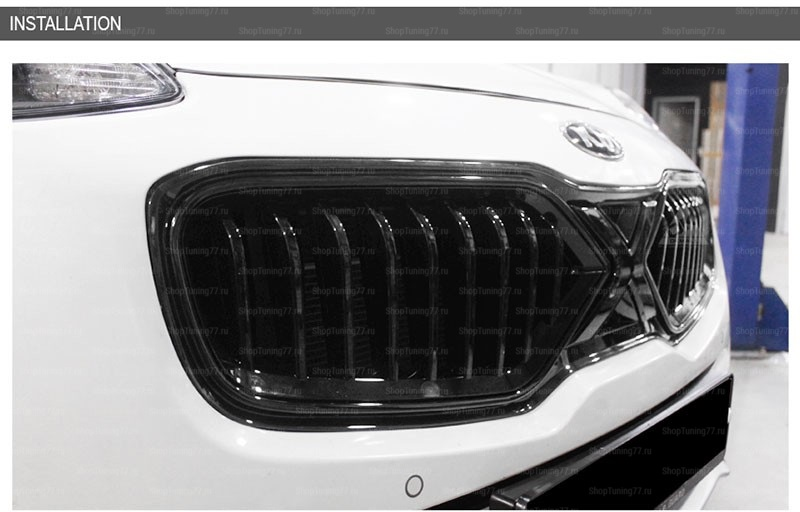 Решетка радиатора чёрная X-Style Kia Sportage (2016-)