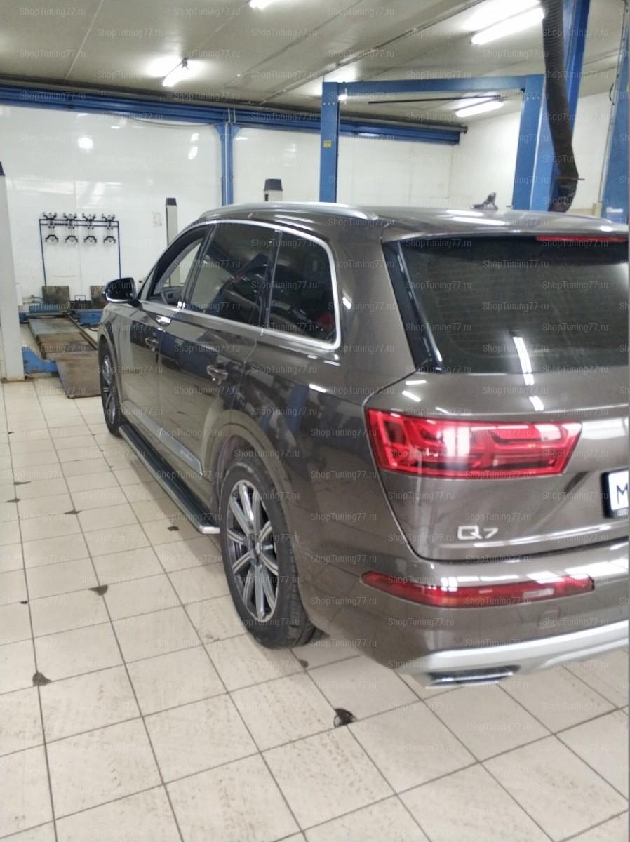 Пороги Audi Q7 (2015)-