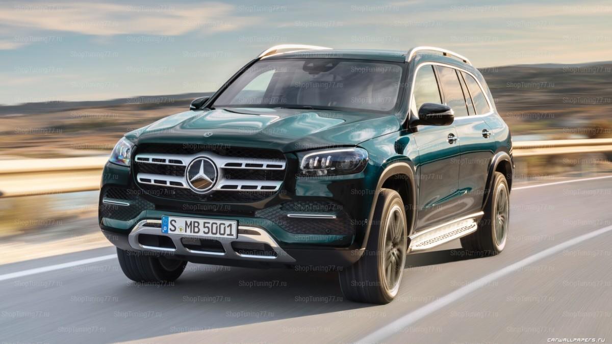 Пороги Mercedes-Benz GLS-klasse II (X167) 2019-
