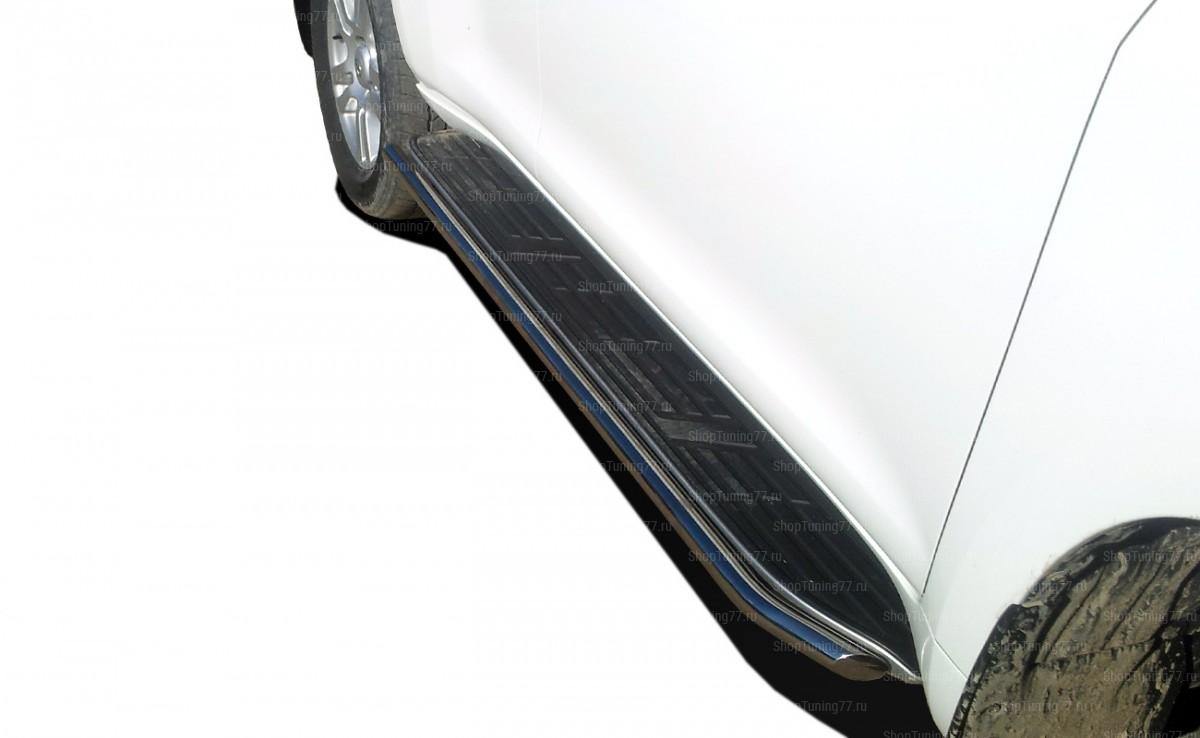 Toyota Land Cruiser Prado 150 2017 Защита штатного порога труба