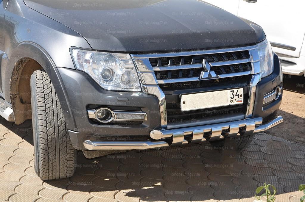 Защита переднего бампера G Mitsubishi Pajero IV
