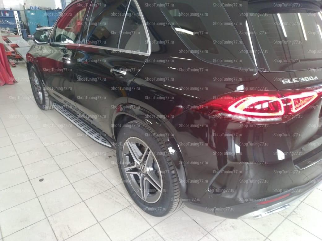 Пороги Mercedes-Benz GLE II (V167) с подсветкой