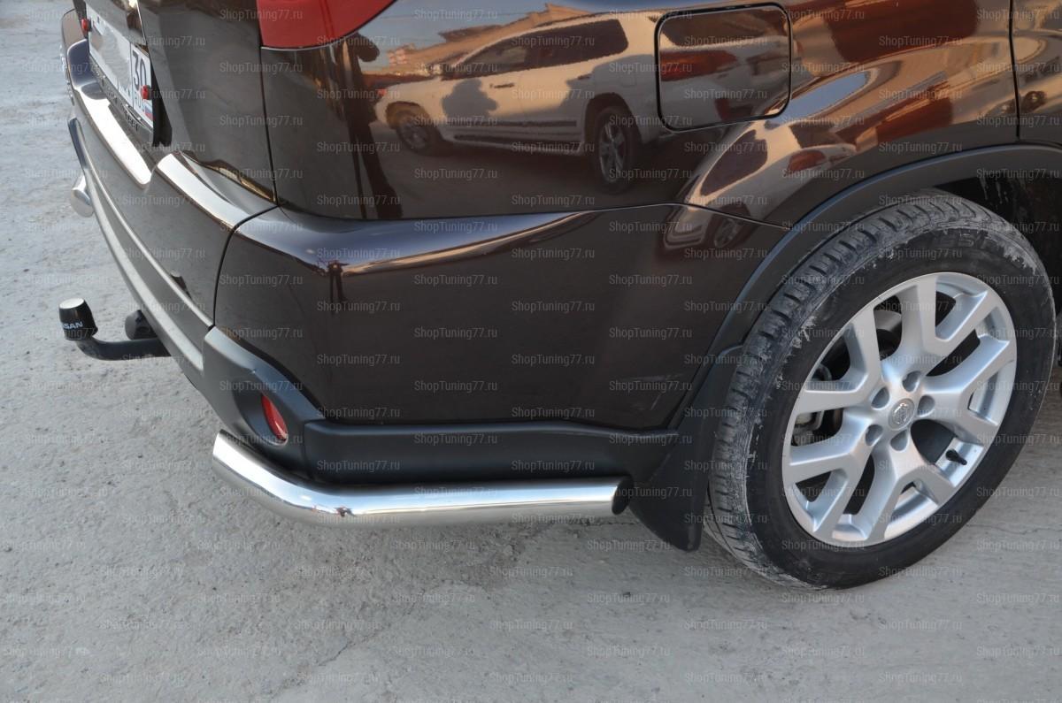Защита заднего бампера угловая Nissan X-trail 2007-2014 (T31)
