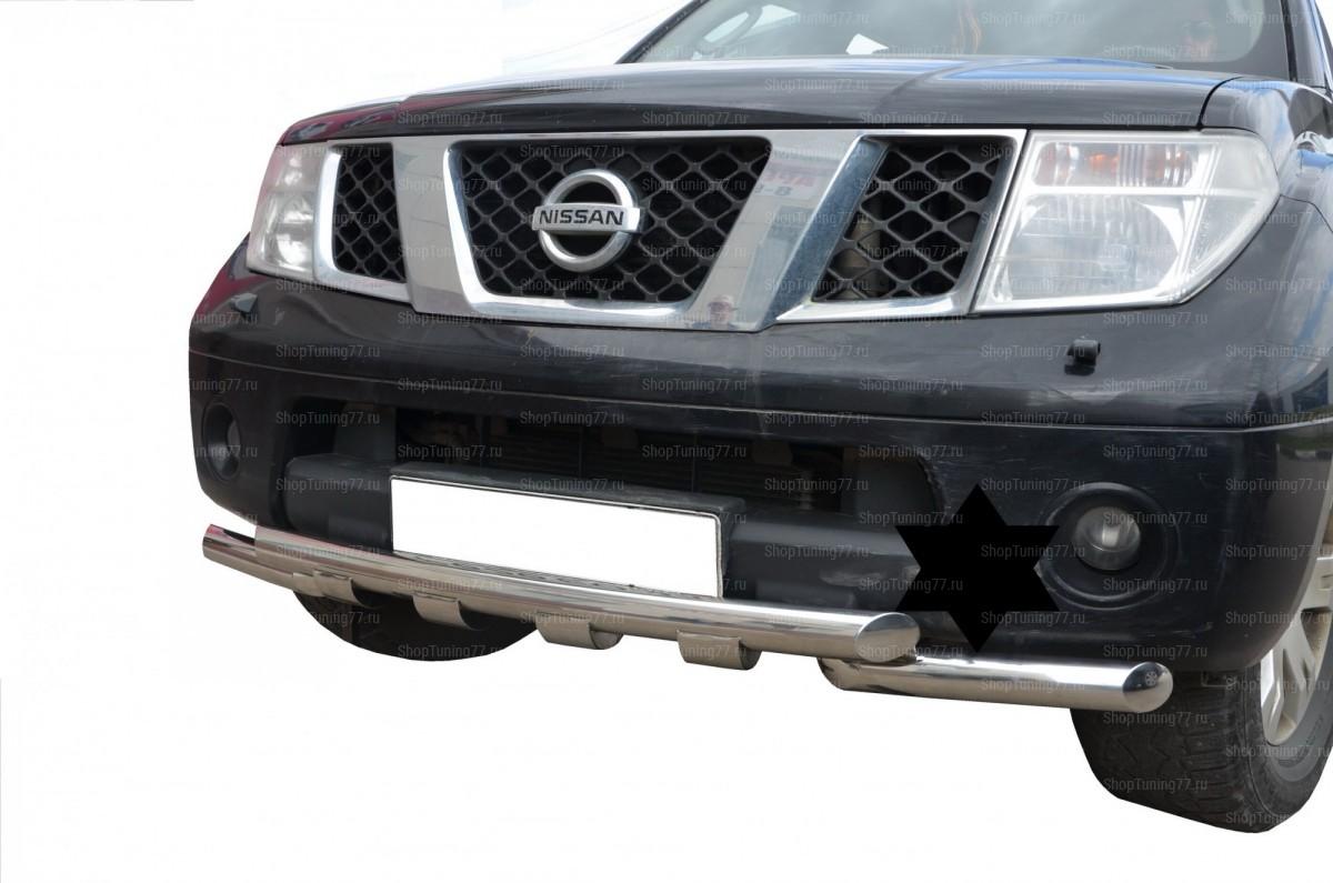 Защита переднего бампера (G) Nissan Pathfinder 2004-2010