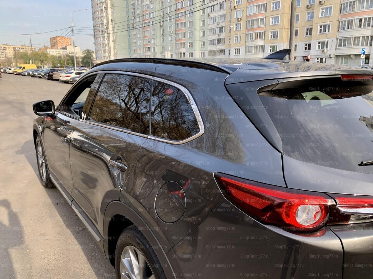 Рейлинги продольные чёрные Mazda CX-9