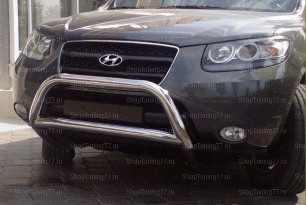 Отбойник без защиты картера 76 мм Hyundai Santa Fe (2006-)
