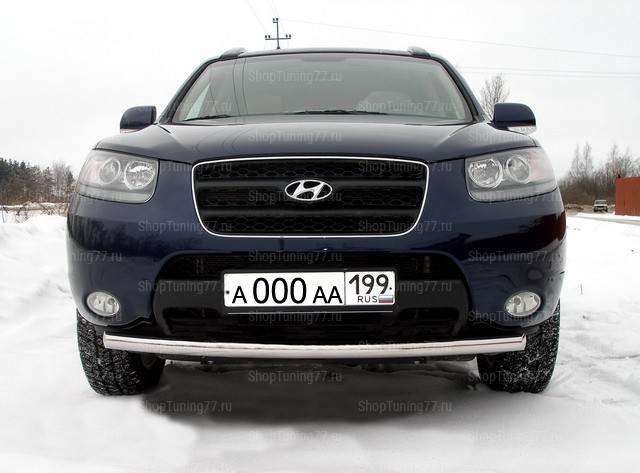 Защита передняя нижняя 60 мм Hyundai Santa Fe (2006-)
