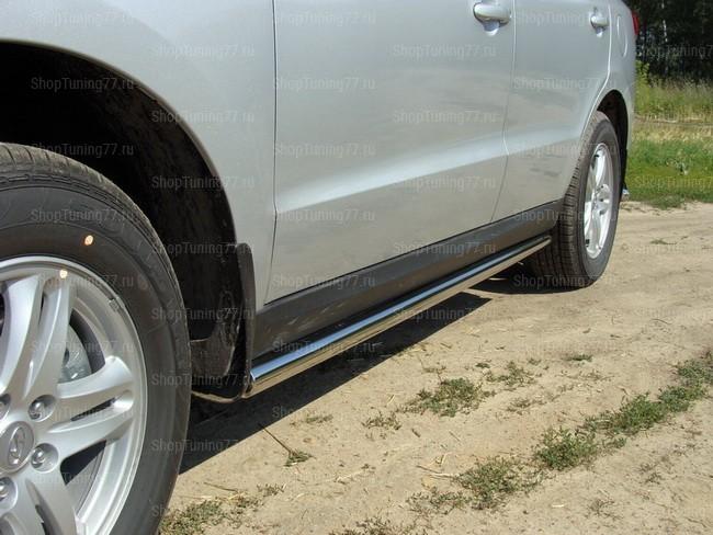 Пороги труба 60,3 мм Hyundai Santa Fe (2010-)