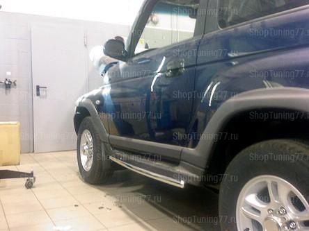 Защита порогов 42 мм Hyundai Tager (Таганрог)