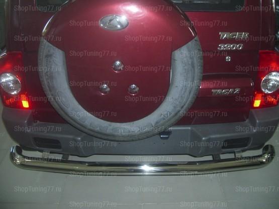 Защита заднего бампера ф76 Hyundai Tager (Таганрог)