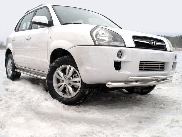Защита передняя нижняя 60,3/42,4 мм Hyundai Tucson