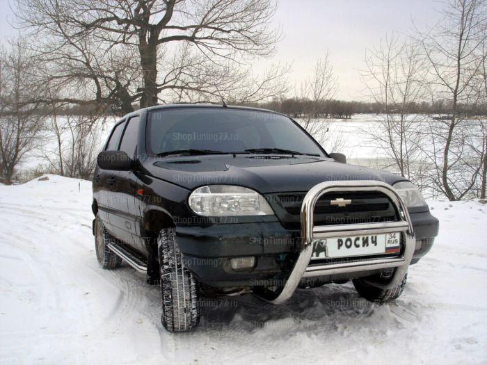 Отбойник без защиты картера 70 мм Chevrolet Niva