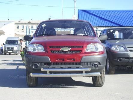 Защита переднего бампера II 60-42 мм Chevrolet Niva (2009-)