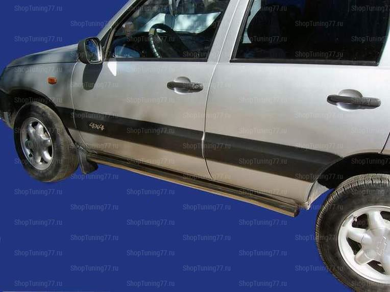 Пороги труба 76 мм Chevrolet Niva (2009-)