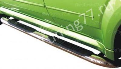 Пороги труба с накладками 60 мм Great Wall Hover H3 (2014-) new