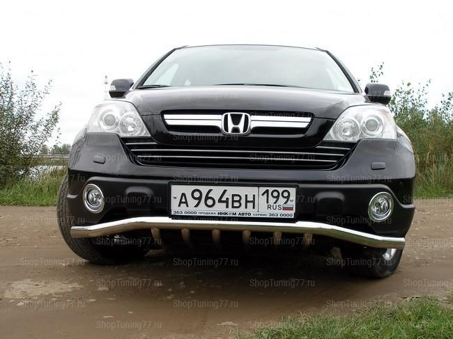 Решетка передняя с защитой 60,3/42,4 Honda CR-V (2007-)