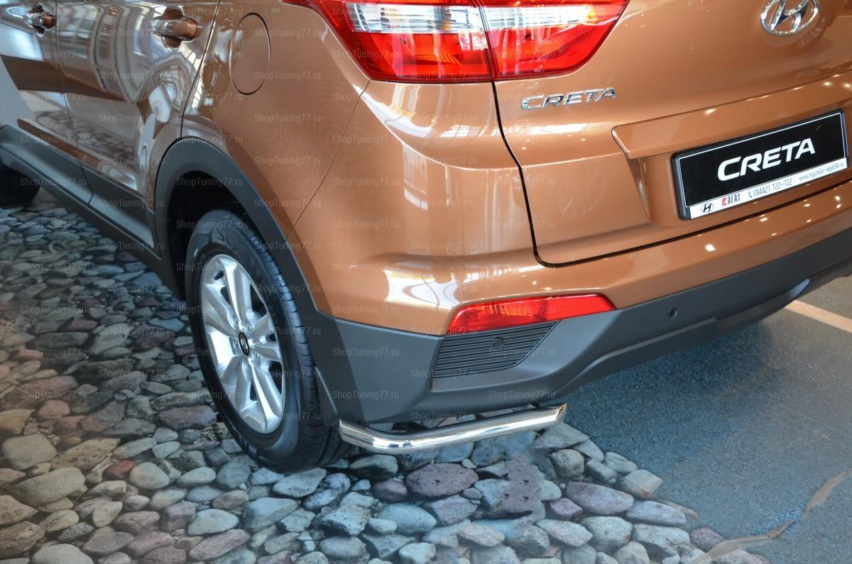 Защита заднего бампера угловая 42 мм Hyundai Creta (2016-)