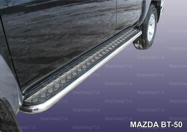 Пороги с листом ф57 Mazda BT-50
