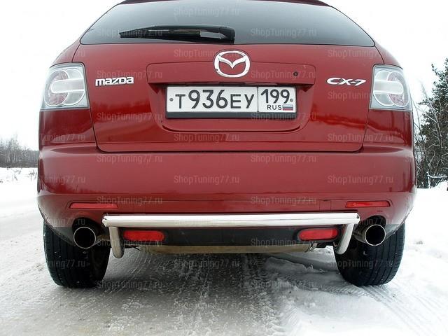 Защита задняя (центральная) 60 мм Mazda CX-7