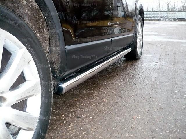 Пороги труба 76 мм Mazda CX-9