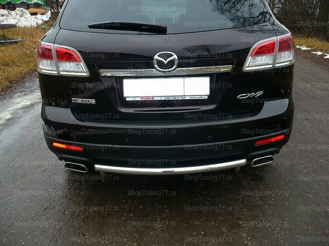 Защита заднего бампера ф57 короткая Mazda CX-9
