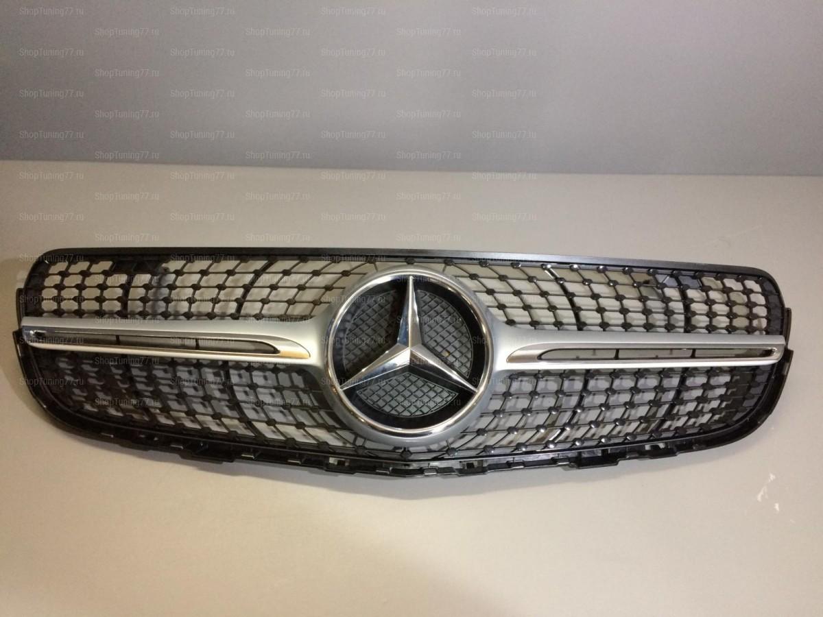 Решетка Diamond Sport Mercedes GLA klasse X156 серебро
