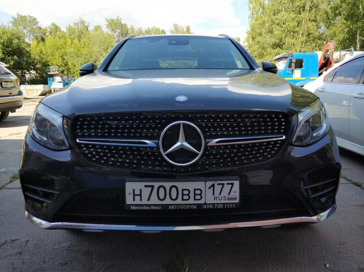 Решетка Diamond Sport Mercedes GLC W235 (2015-) серебро