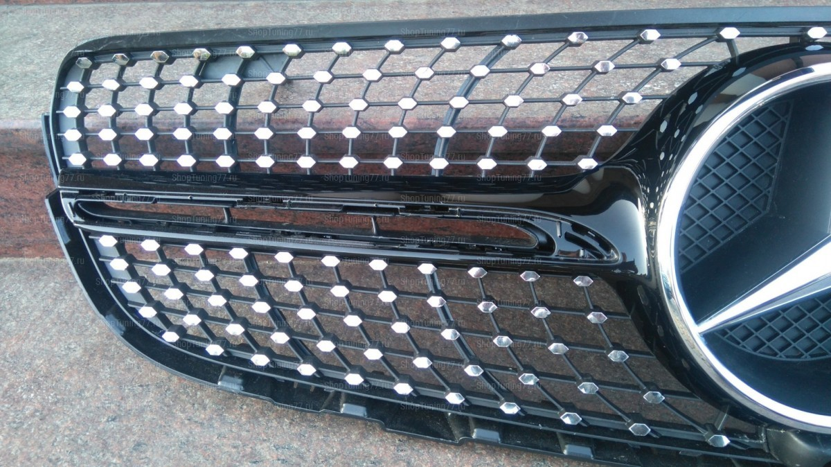 Решетка Diamond Sport Mercedes GLC W235 (2015-) черная