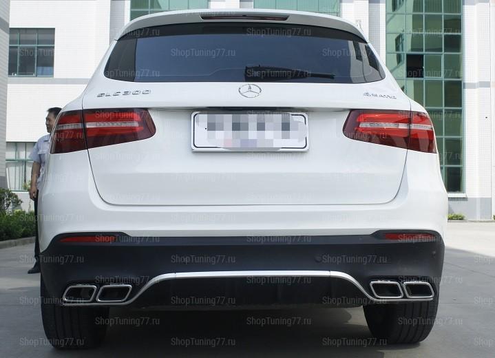 Диффузор с насадками AMG Mercedes GLC W235 (2015-)