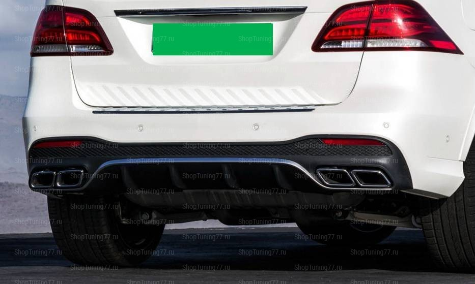 Диффузор с насадками хром 63 AMG Mercedes Benz GLE W166