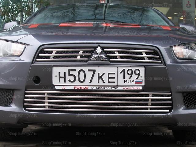 Решётка радиатора нижняя Mitsubishi Lancer X